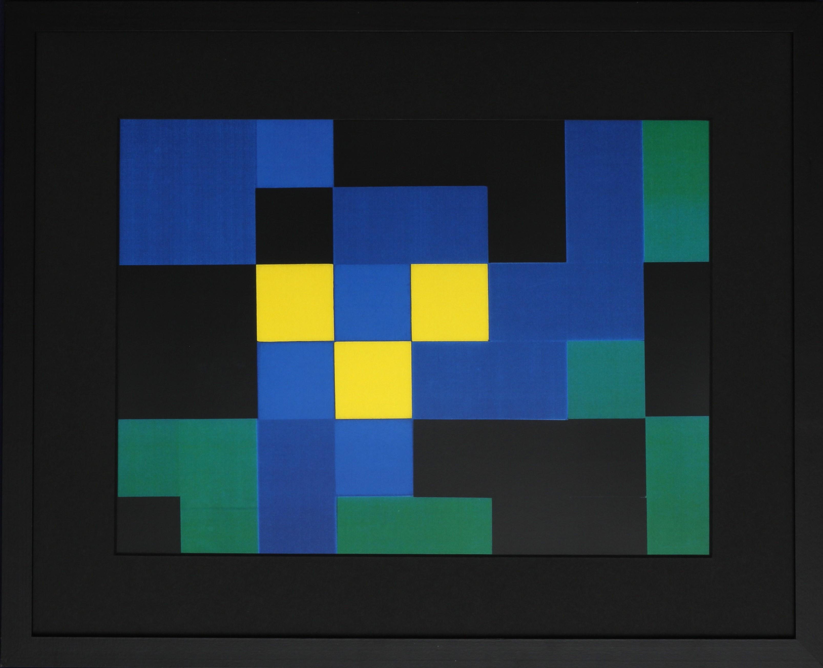 Dutch design art print green yellow 4