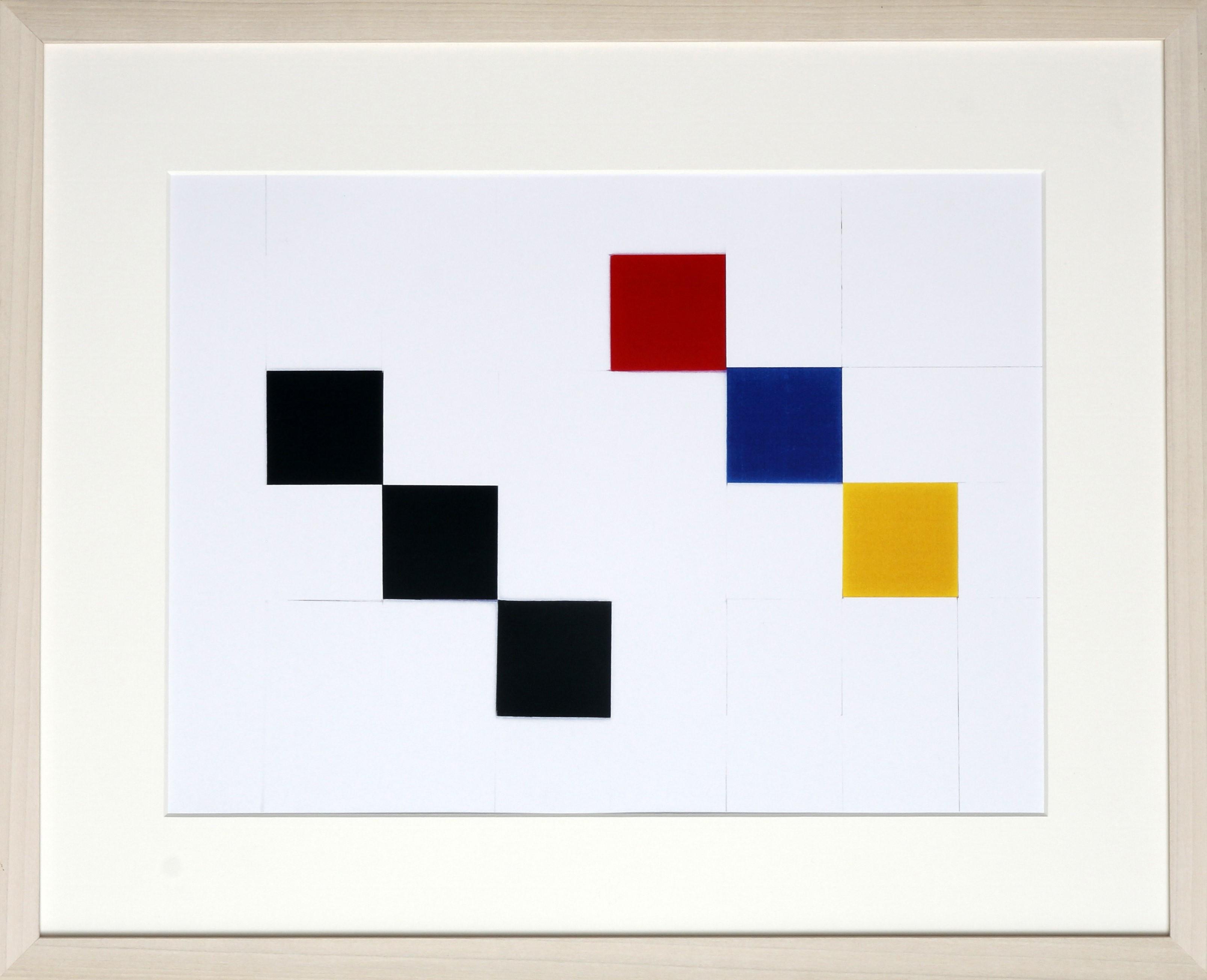 Dutch design art print black white color 1