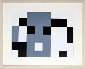 Dutch design art print black white grey 1