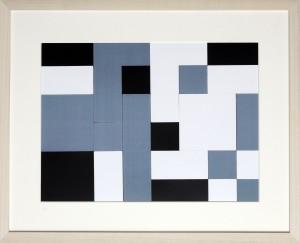 Dutch design art print black white grey 2