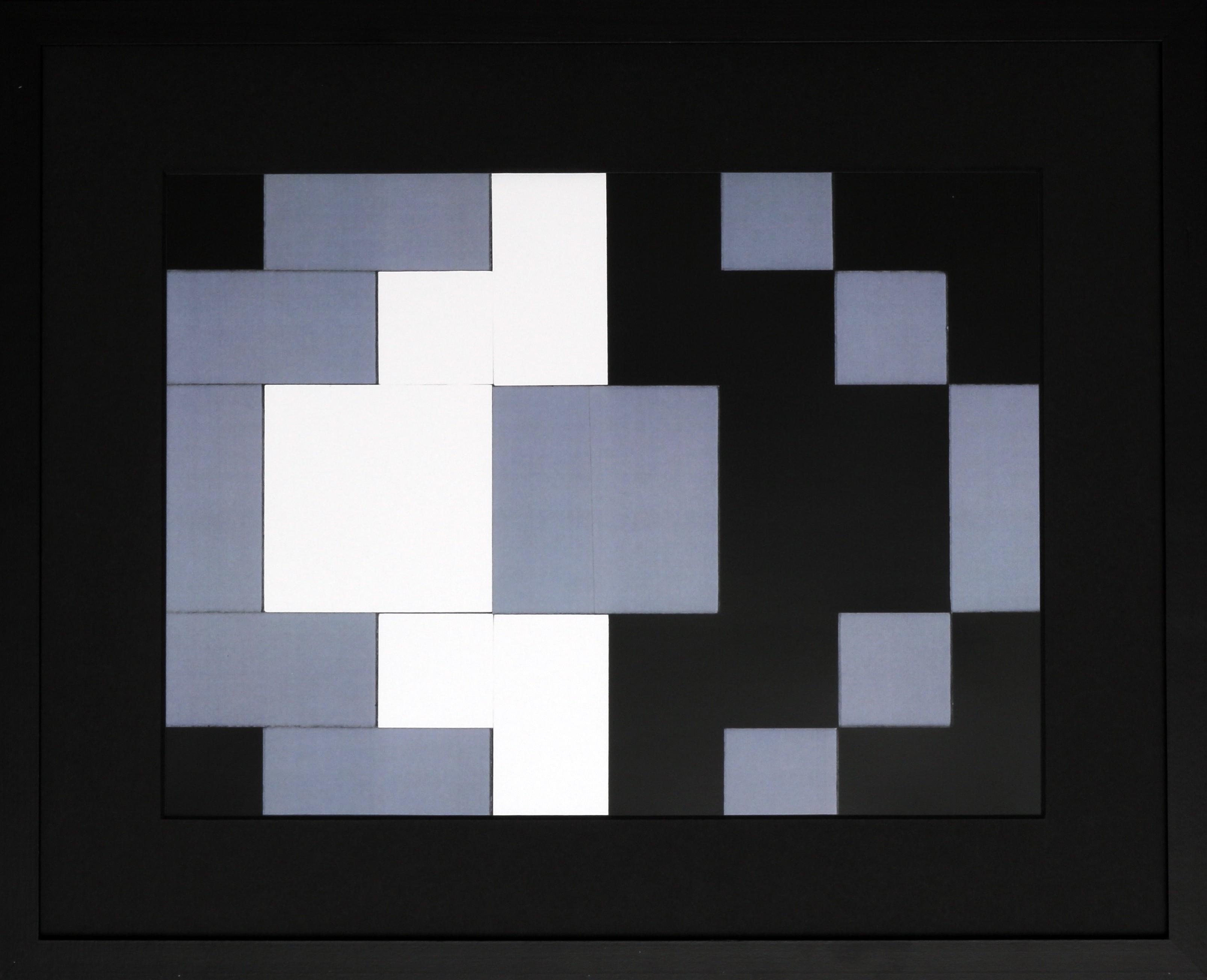 Dutch design art print black white grey 5