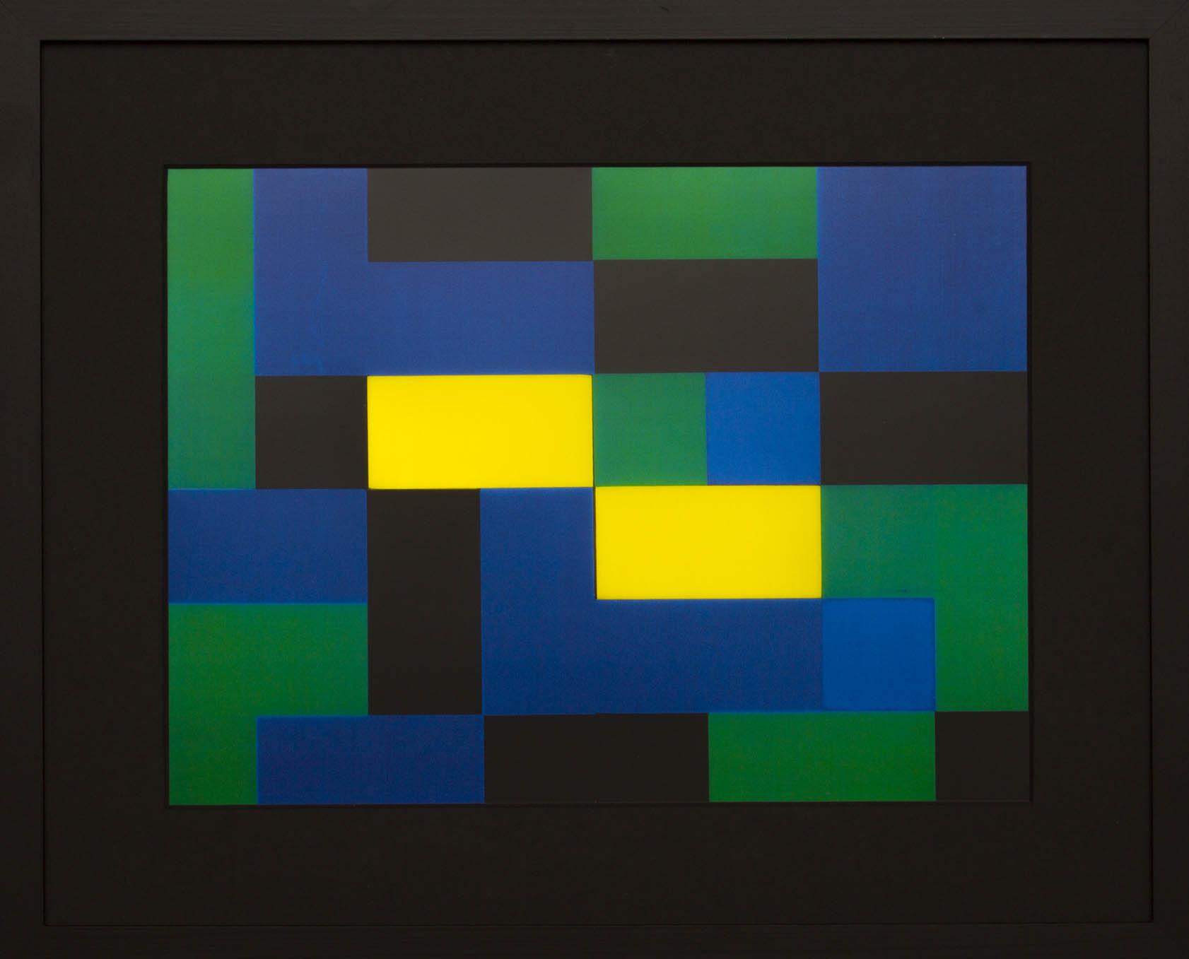 Dutch design art print Green Yellow 10