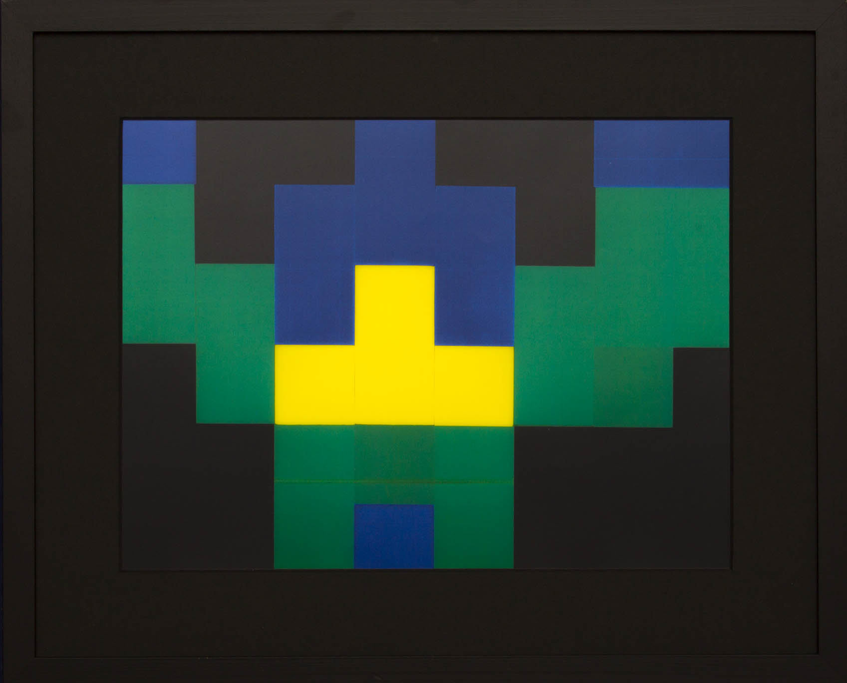 Dutch design art print Green Yellow 5