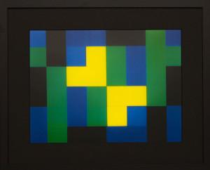 Dutch design art print Green Yellow 6