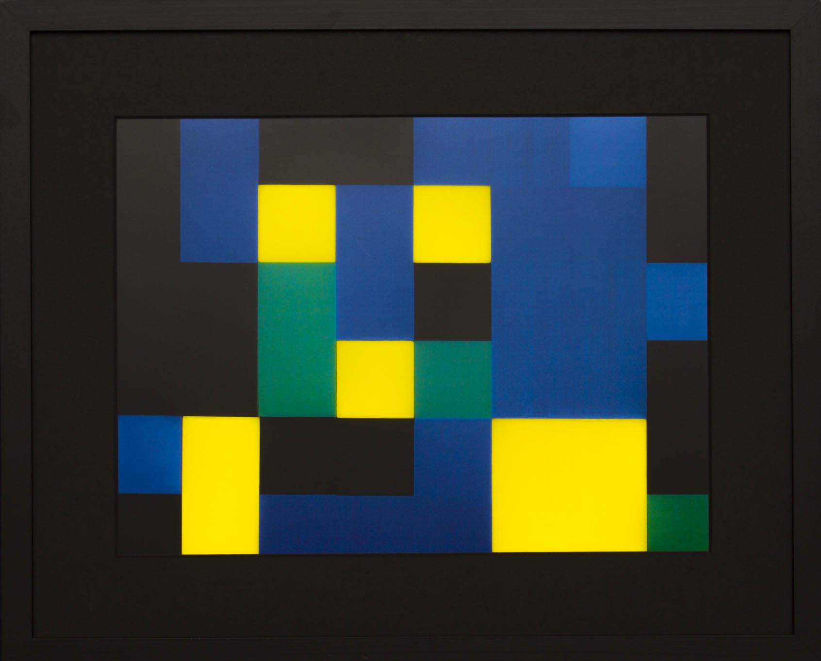 Dutch design art print Green Yellow 7