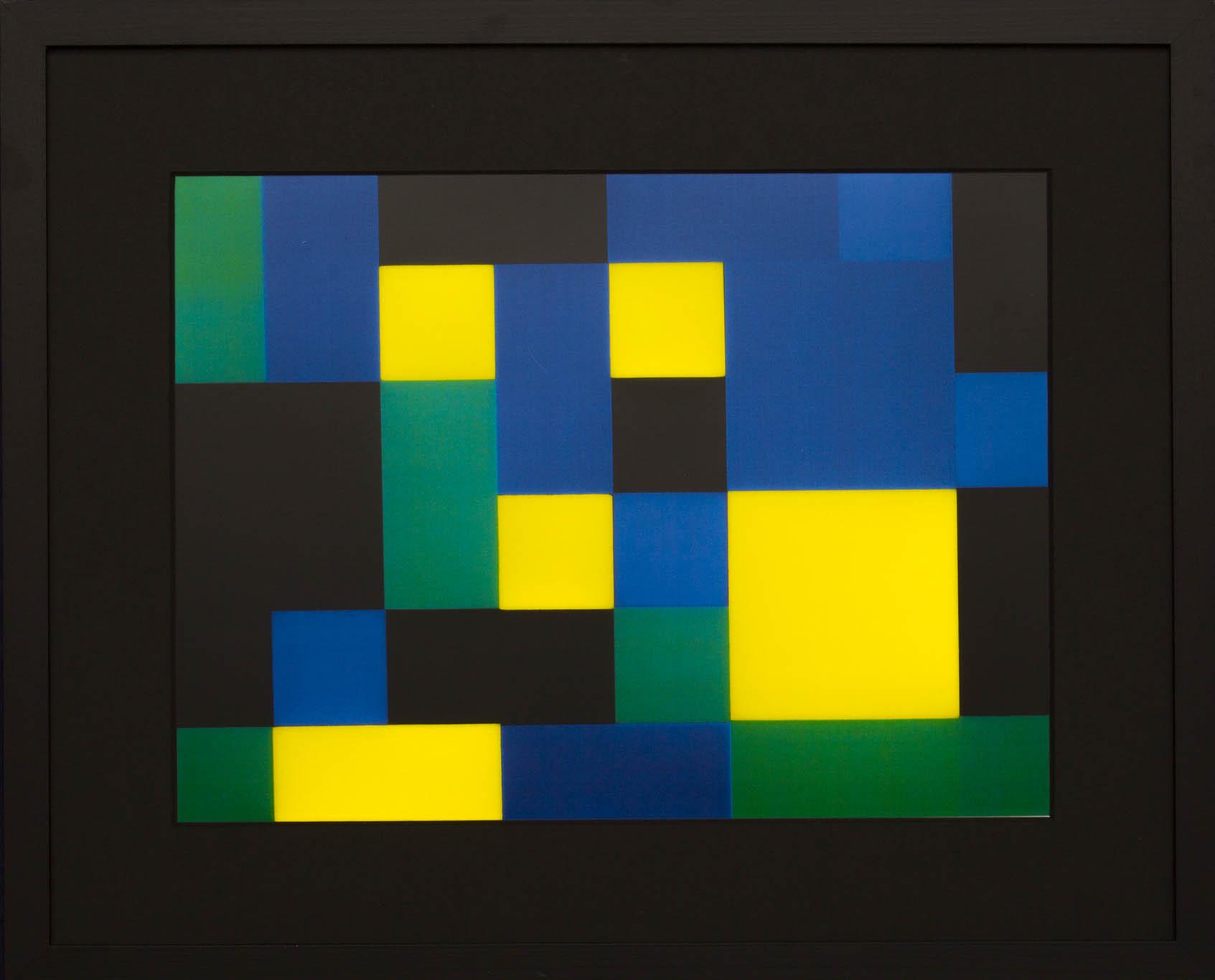 Dutch design art print Green Yellow 8