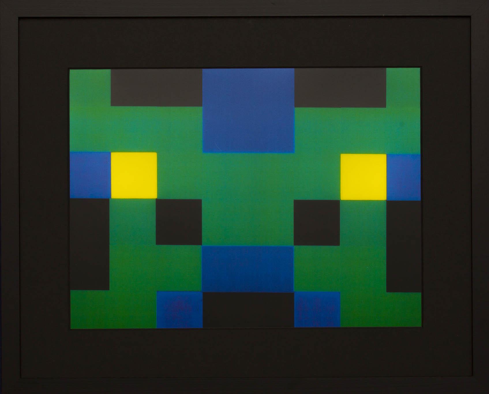 Dutch design art print Green Yellow 9