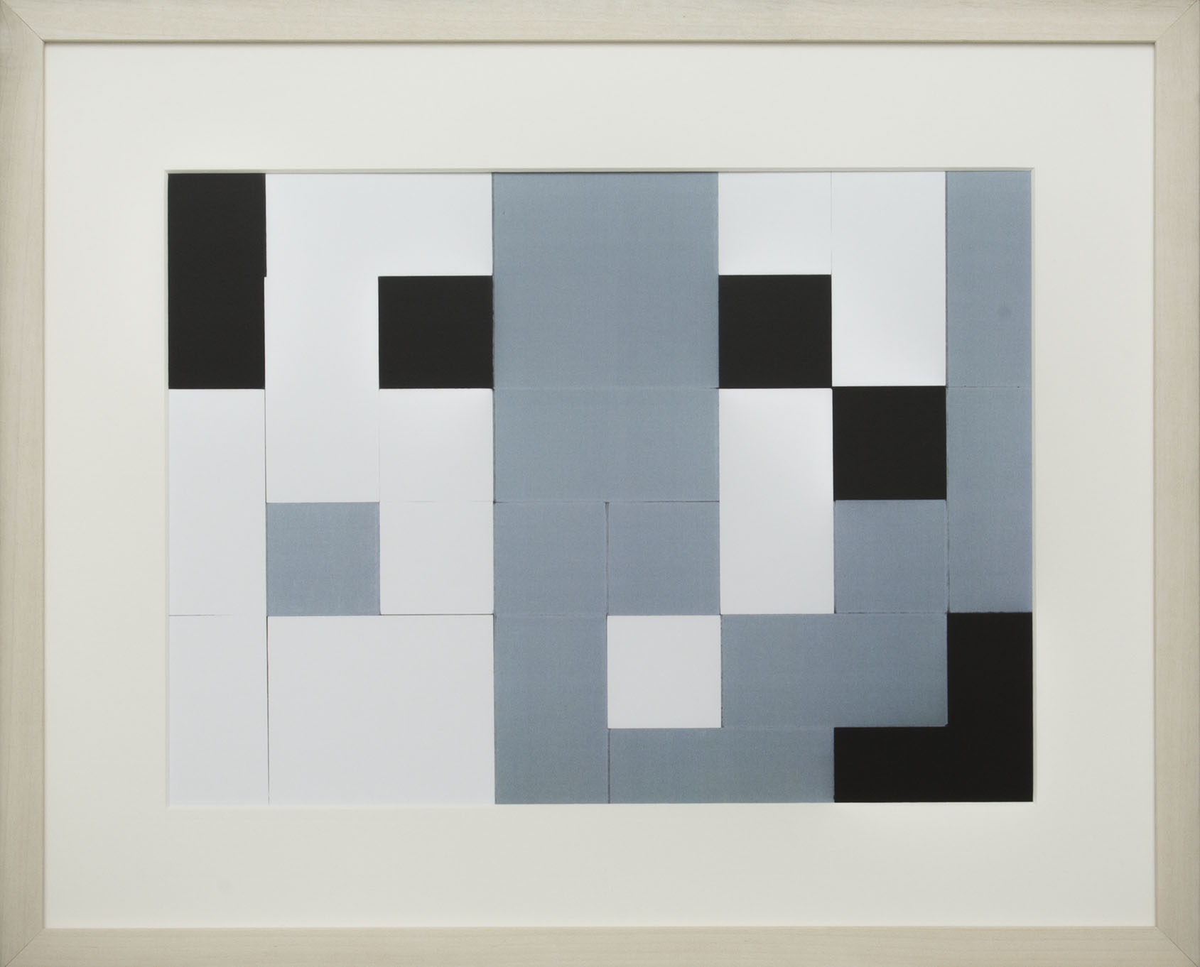 Dutch design art print Black White Grey 10