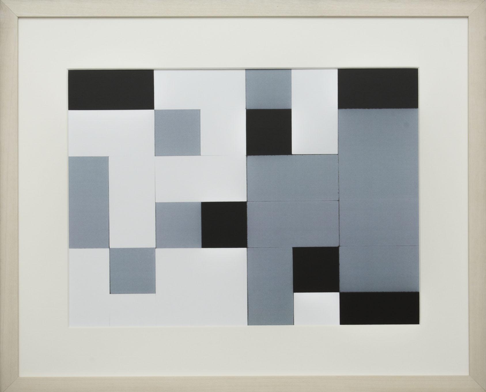 Dutch design art print Black White Grey 11