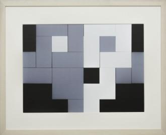 Dutch design art print Black White Grey 12