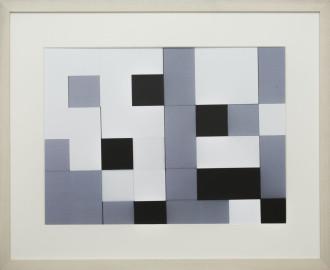 Dutch design art print Black White Grey 13