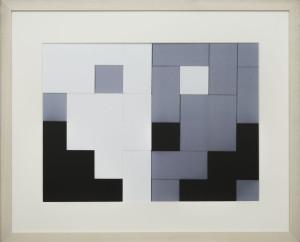 Dutch design art print Black White Grey 14