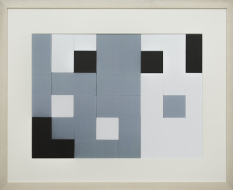 Dutch design art print Black White Grey 15