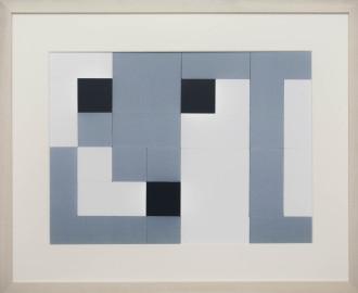 Dutch design art print Black White Grey 16