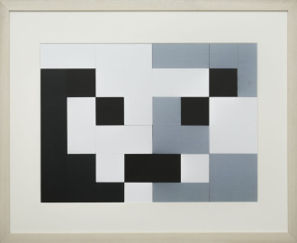 Dutch design art print Black White Grey 7