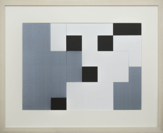 Dutch design art print Black White Grey 9