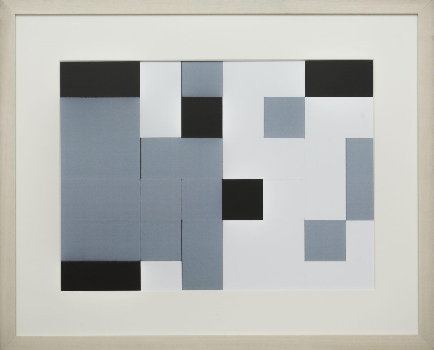 Dutch design art print Black White Grey 6