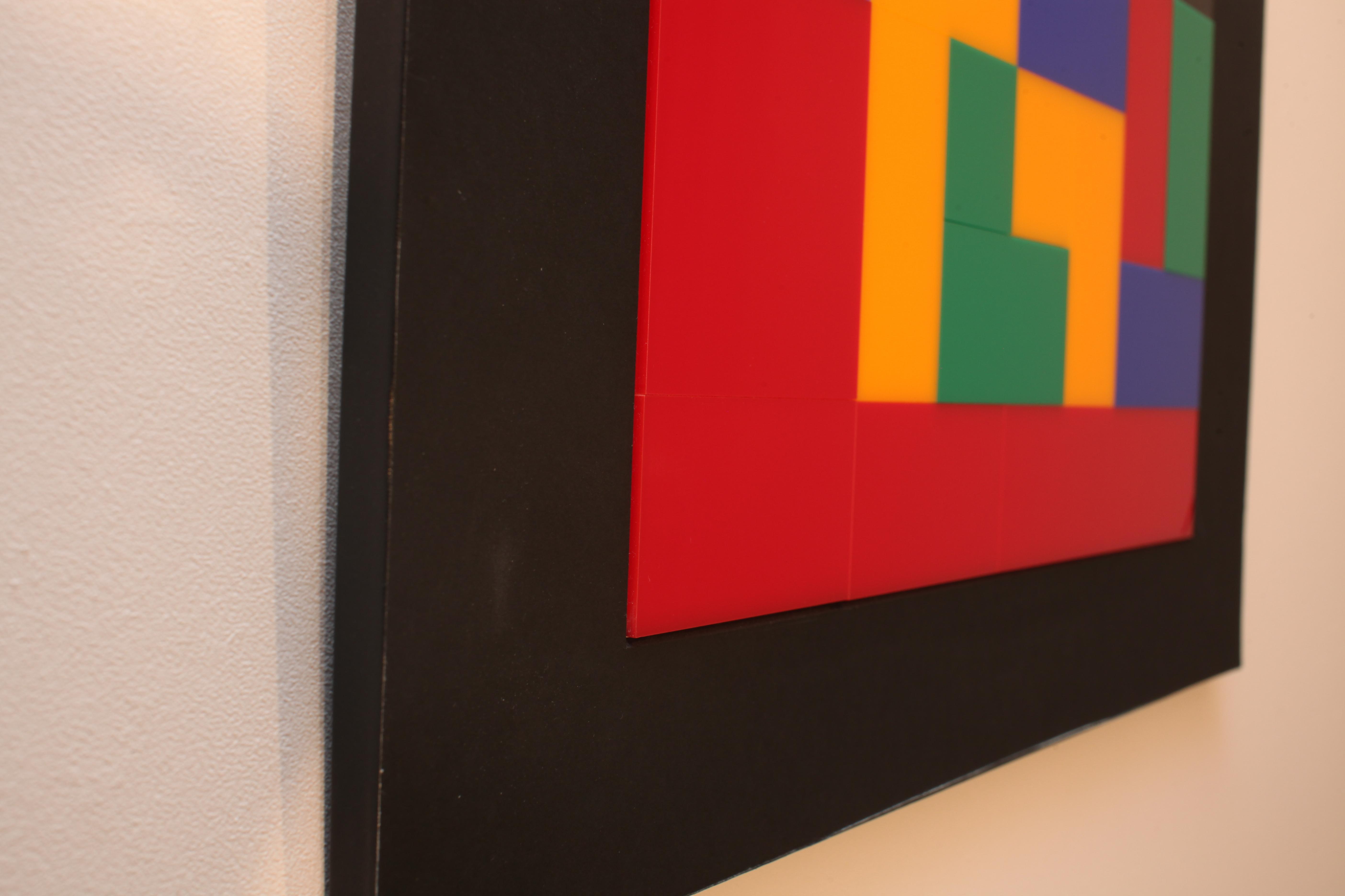 Plexiglass wall sculpture X1 - side