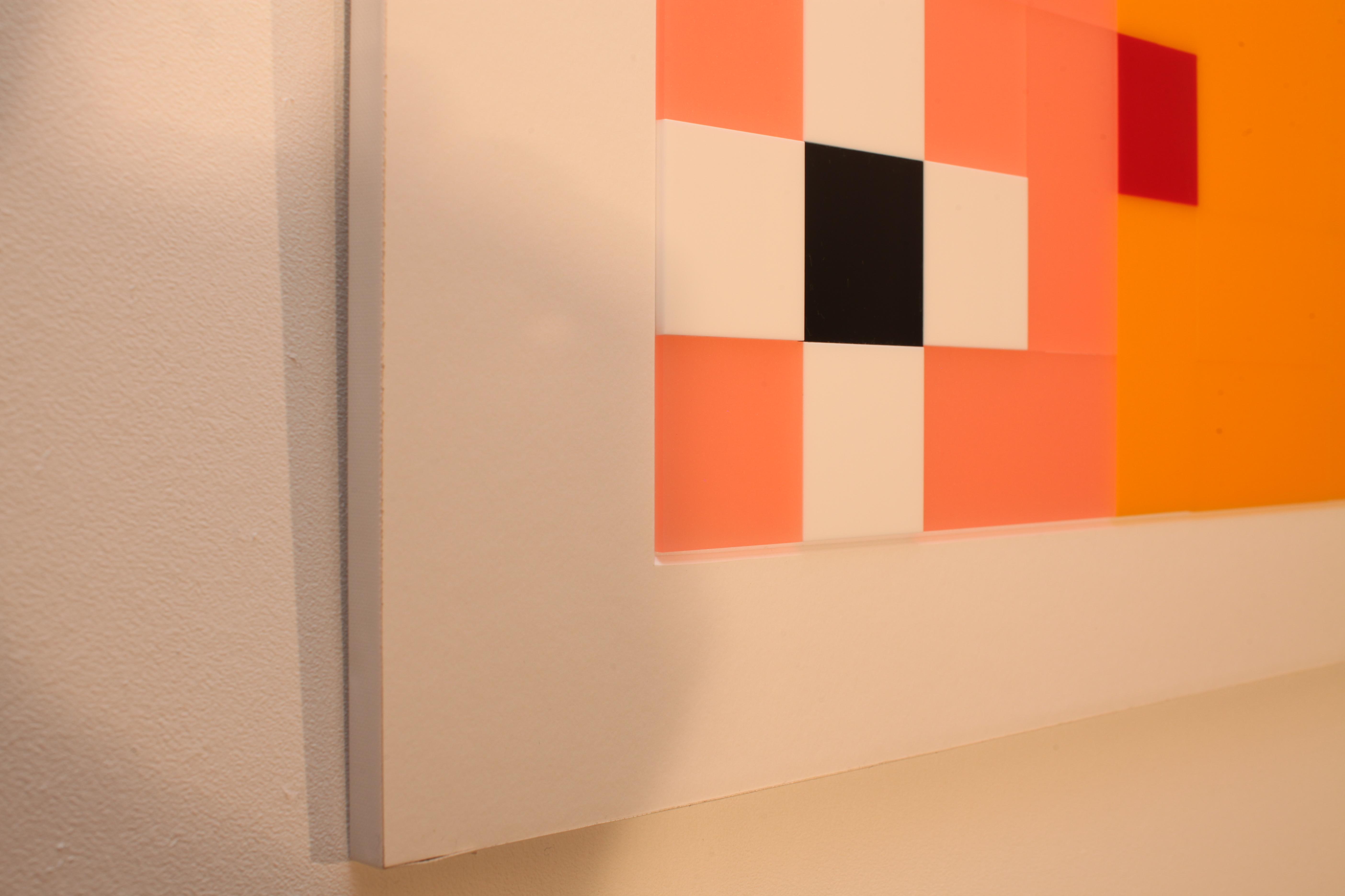 Plexiglass wall sculpture X4 - side